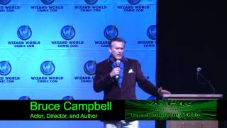 Bruce Campbell Rips on a Girl trying to ask a Question. Super Funny!