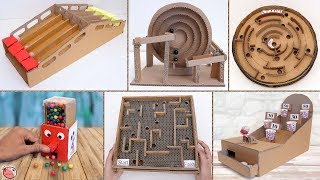 7 Amazing Cardboard Games Compilation !!! Handmade Things You Can Do at Home