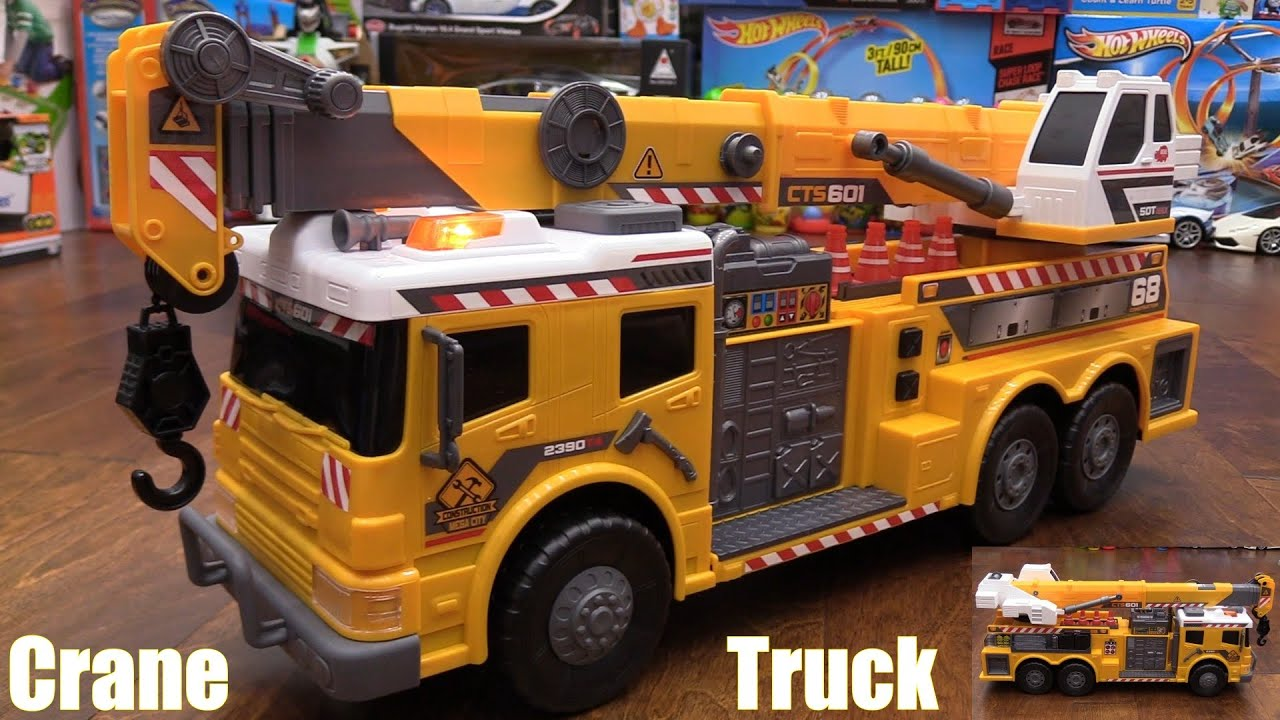 kidu0027s toy channel dickie toys a yellow crane truck unboxing w marxlen youtube