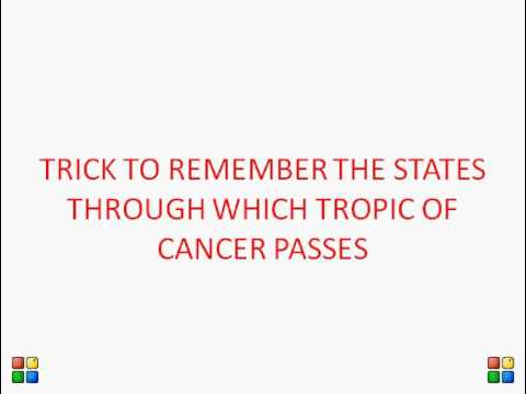 Which countries lie along the Tropic of Cancer?