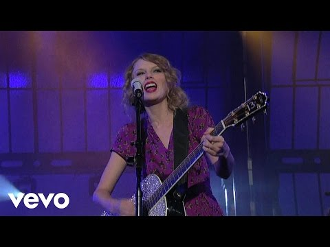 Taylor Swift - Mine (Live On Letterman)