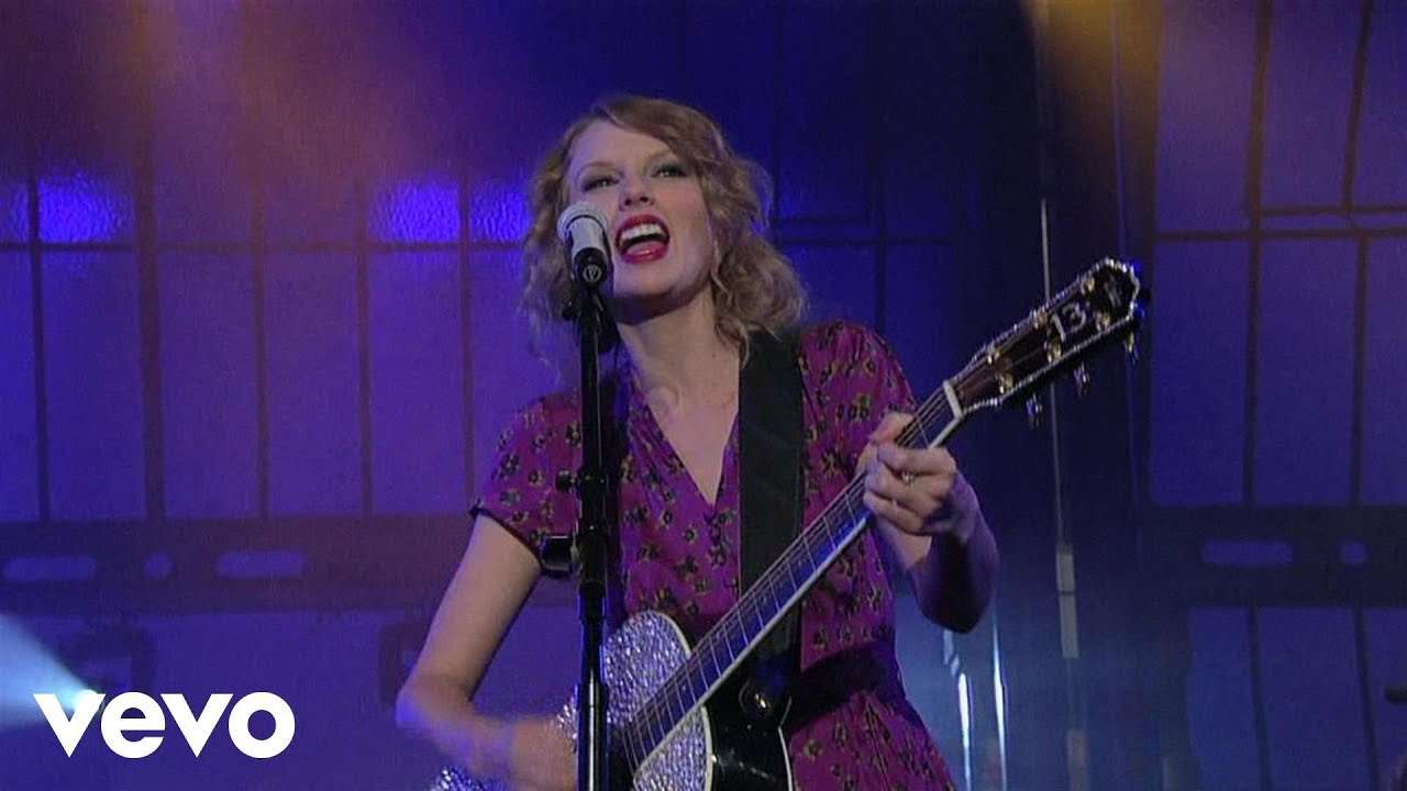 Taylor Swift Mine Live On Letterman Youtube