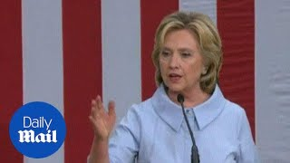 Hillary Clinton blasts Trump for not correcting man at rally - Daily Mail