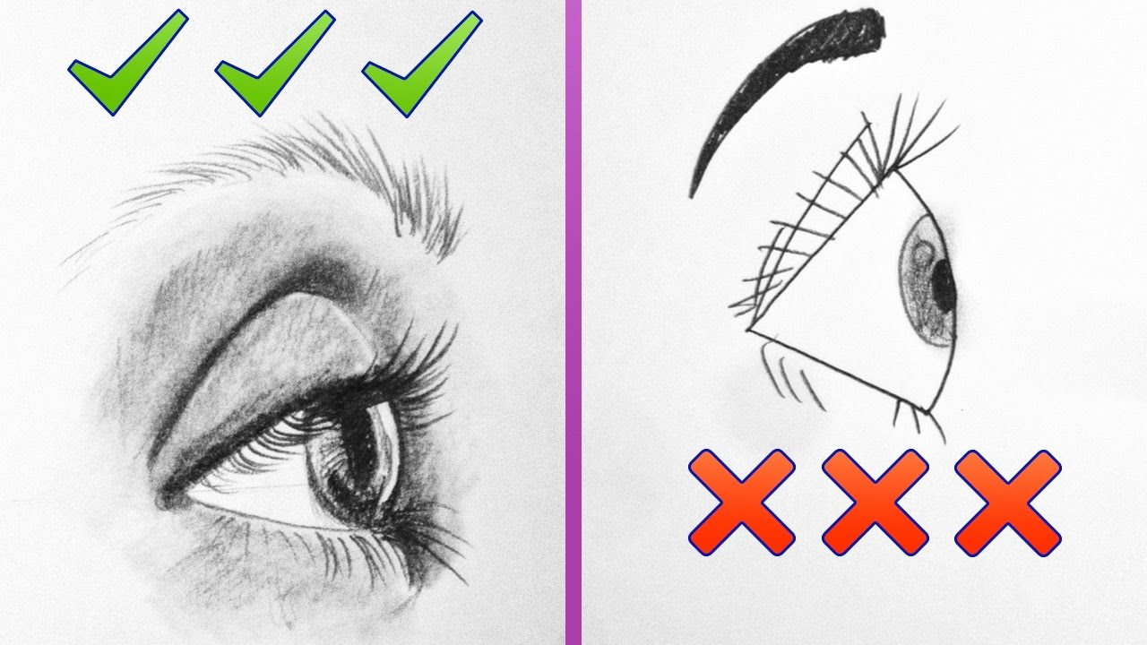 Dos Donts How To Draw Realistic Side Eyes Step By Step Art