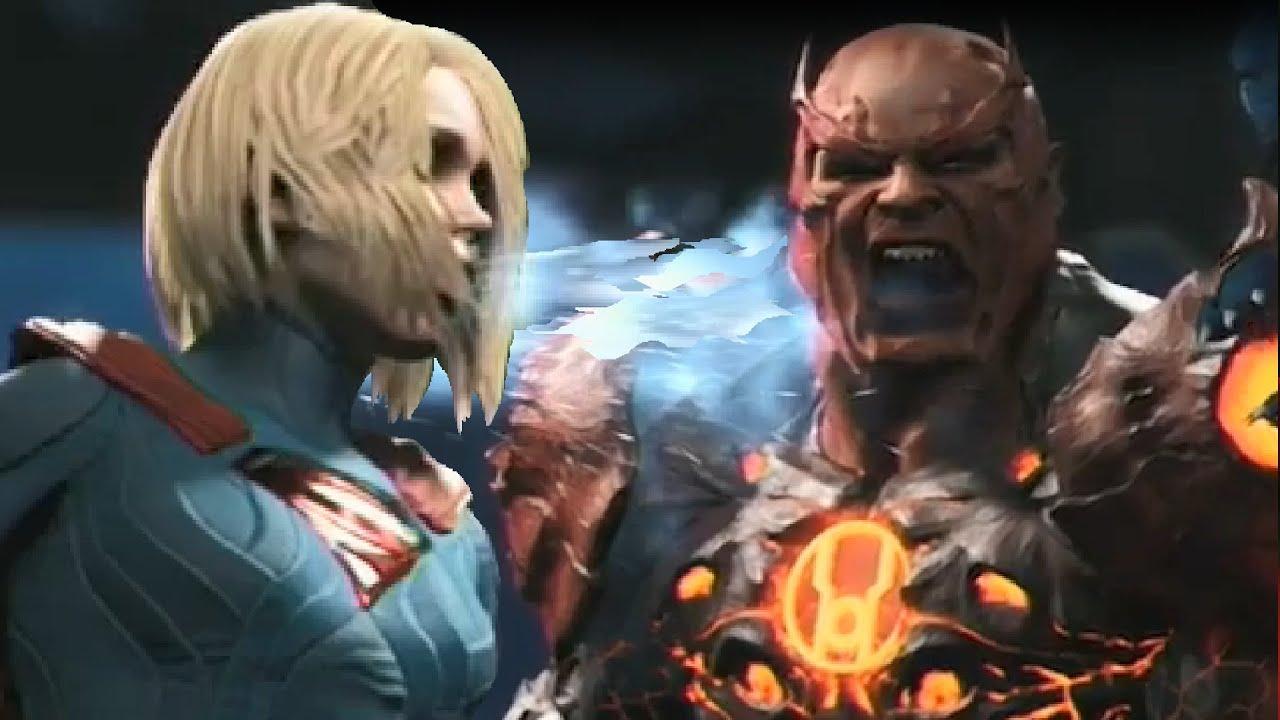 Harley Quinn Power Girl Wallpaper Hd Injustice 2 Supergirl Vs Atrocitus Gameplay E3 2016 Ps4