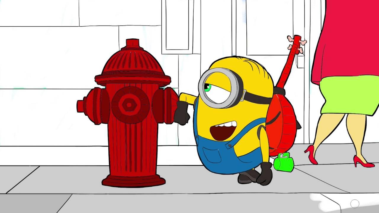 Minions Minyonlar çizgi Film Karakter Boyama Sayfası 3 Minik