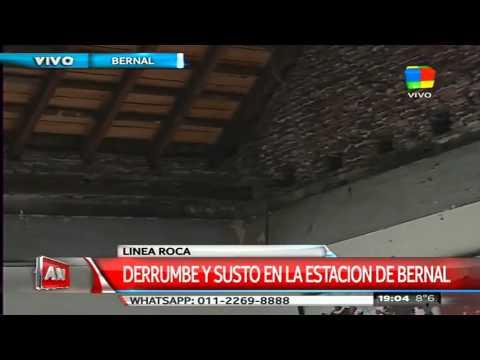 Se derrumbó el techo de la estación de trenes de Bernal
