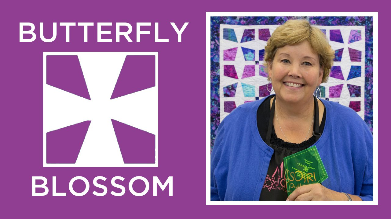 Make a Butterfly Blossom Quilt with Jenny! - YouTube : quilting videos site youtube - Adamdwight.com