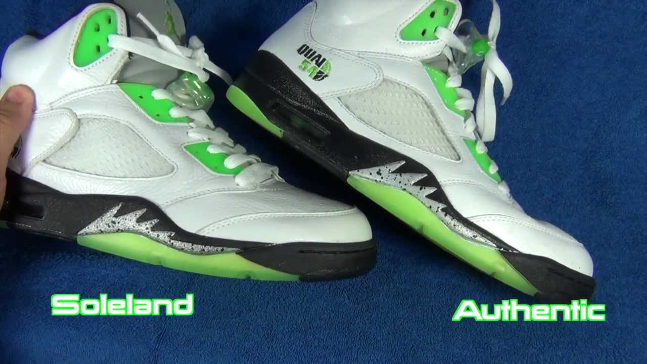 buy popular 181c9 0af95 EXPOSED Fake SOLELAND.COM Air Jordan V 5 Retro QUAI 54 Review Joe ...