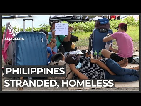 Many stranded in Philippines capital after losing jobs amid pandemic