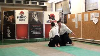 suwari waza tsuki iriminage [AIKIDO]  basic technique