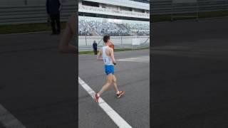 Финиш чемпионата России по спортивной ходьбе на 35 км