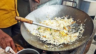 Mouthwatering EGG FRIED RICE (Pulao) Indian STREET FOOD AROUND THE WORLD Restaurant Style | Egg Rice