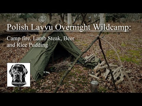 Bushcraft Overnight Wildcamp. Polish Lavvu Wildcamp. Ray Mears/Lars Falt Rice Pudding Recipe