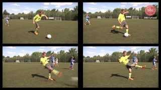 Lær de grundlæggende spark i fodbold