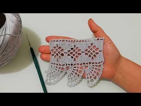 Kolay ve güzel havlu kenarı yapılışı&crochet
