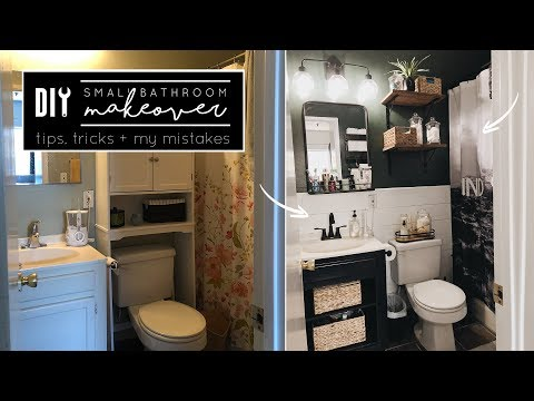 DIY Small Bathroom Makeover