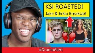KSI Roasted Jake Paul & Erika Costell BREAKUP! #DramaAlert SMOSH ENDS!