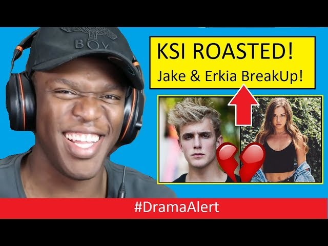 KSI Roasted Jake Paul & Erika Costell BREAKUP! #DramaAlert SMOSH ENDS!