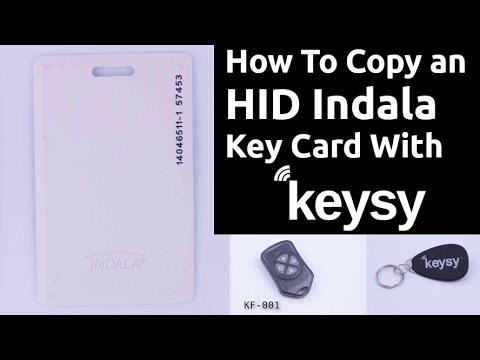 How To Copy an HID Indala Key Card with a Keysy RFID Duplicator