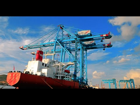 The arrival of the cranes - APM Terminals Izmir