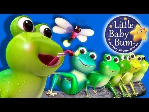 Five Little Speckled Frogs | Part 2 | Nursery Rhymes | By LittleBabyBum!