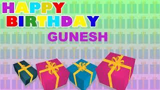 Gunesh  Card Tarjeta - Happy Birthday