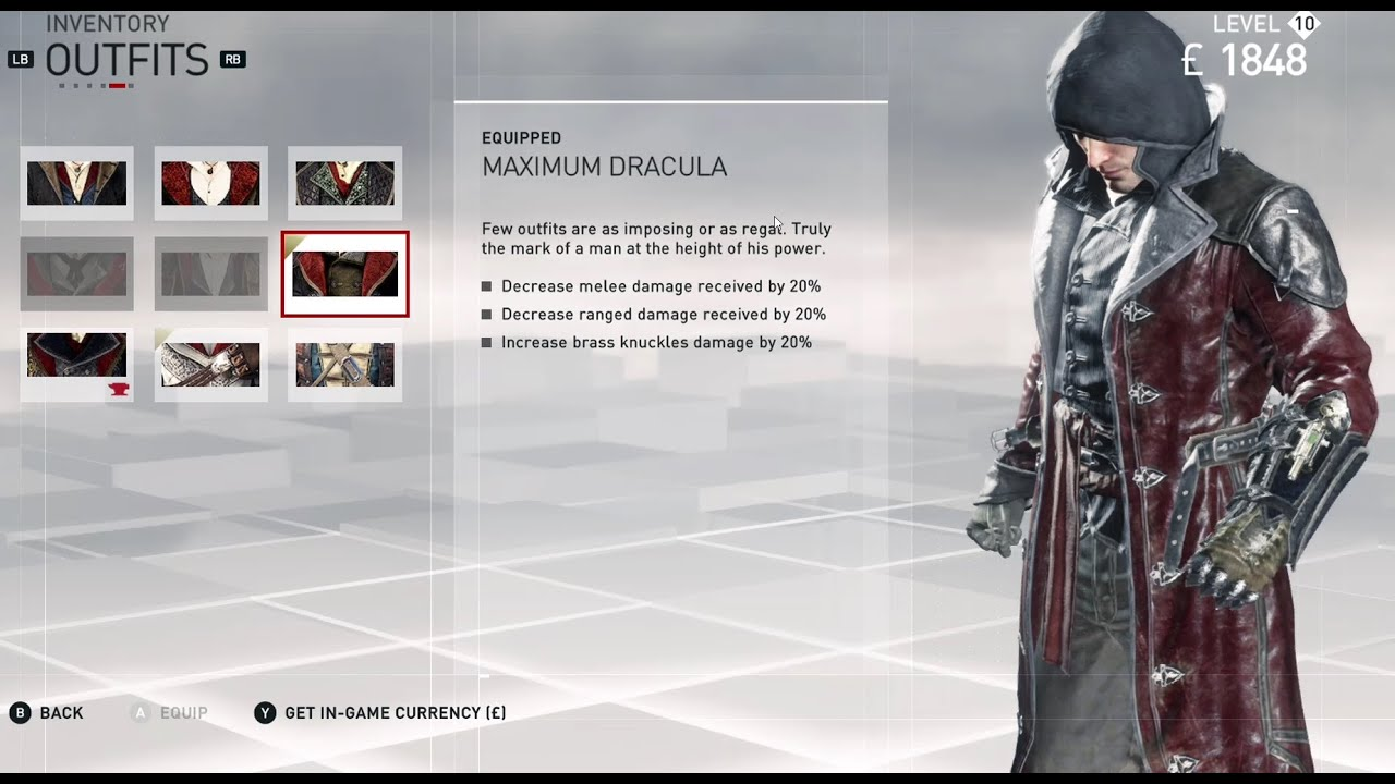 Assassins Creed Syndicate Alll Jacob Frye Outfits Youtube