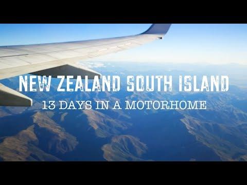 New Zealand South Island AZventure 2017 - 13 days road trip living in a motorhome / campervan
