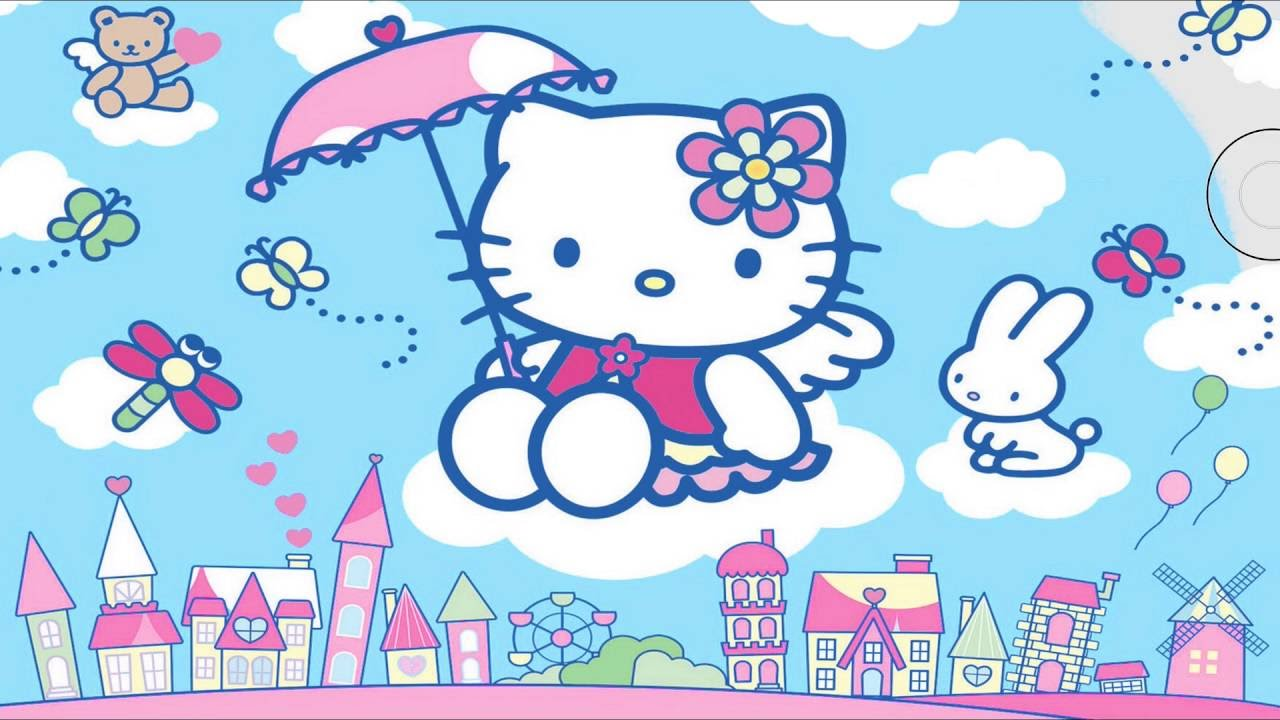 Hello Kitty Coloring Page 3   Little Hands Coloring Book - YouTube