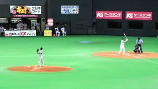 札幌ドーム;日本ハム対オリックス戦3連戦の緒戦。延長10回の裏スケールズの押出し四...