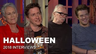 HALLOWEEN (2018) Interviews with Jamie Lee Curtis, John Carpenter, Jason Blum & David Gordon Green