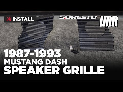 1987-1993 Mustang 5.0 Resto Dash Speaker Grille Kit - Install & Review