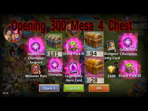 Opening 300 Mesa 4 Chest With Insane Rewards Castle Clash