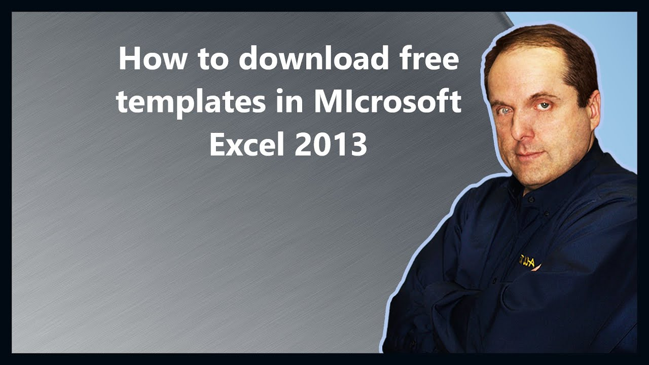 How To Download Free Templates In Microsoft Excel 2013 Youtube