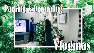 Packing for New York & Decorating The Tree | VLOGMAS