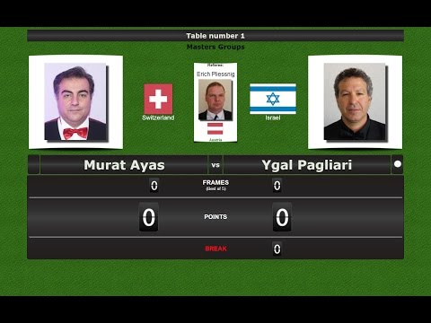 Snooker Masters Groups : Murat Ayas vs Ygal Pagliari