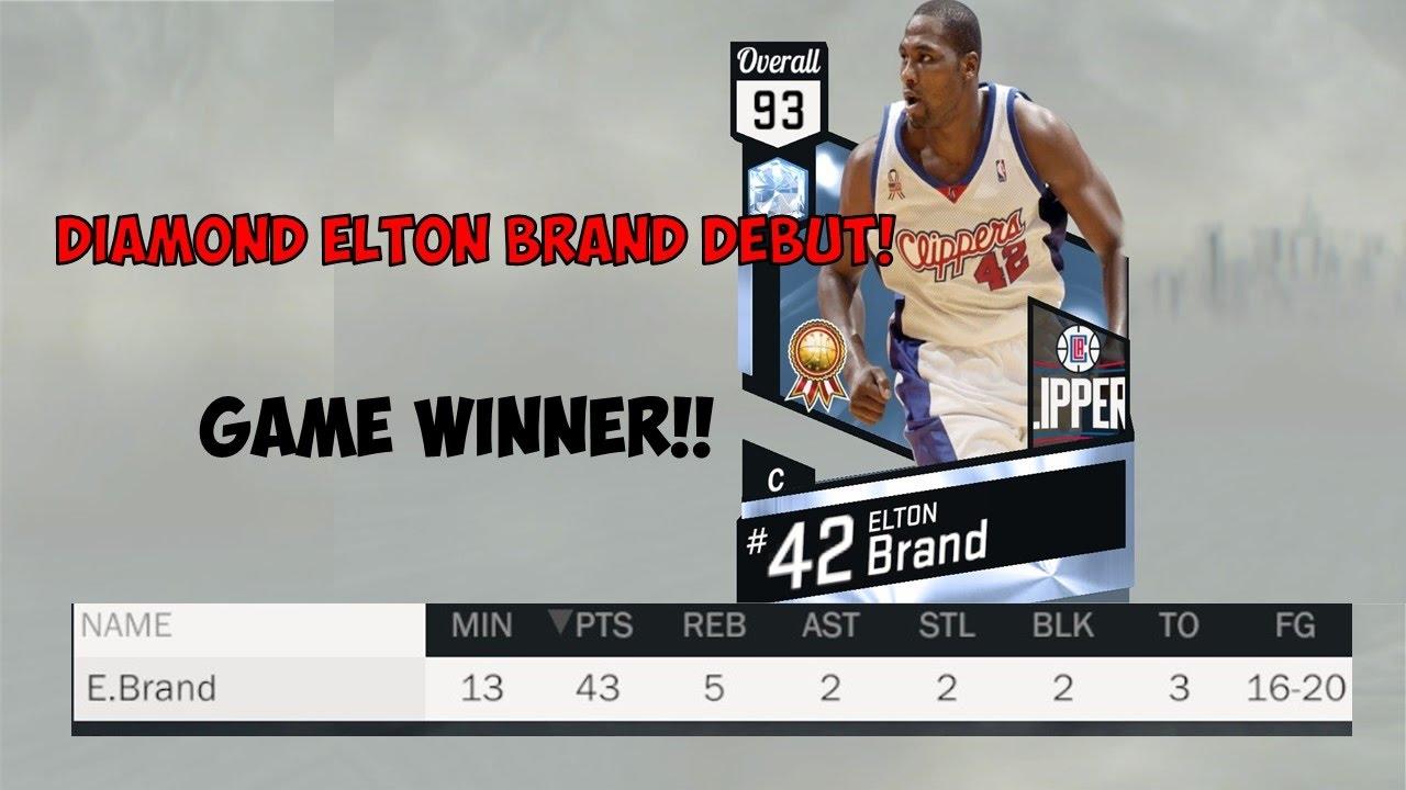 Download DIAMOND ELTON BRAND GAME WINNER! DEBUT!! NBA 2k17 MyTeam