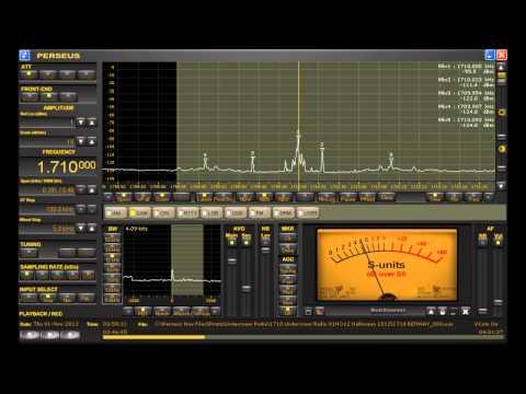 "1710 KHz Pirate Radio Station ""Undercover Radio"" Halloween 2012 on Perseus SDR"