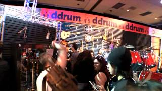Dean Guitars N.A.M.M. 2015 Highlights -  Dave Mustaine w/ Fans