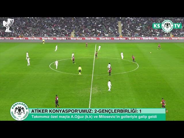 Atiker Konyaspor'umuz özel maçta Gençlerbirliği'ni 2-1 mağlup etti