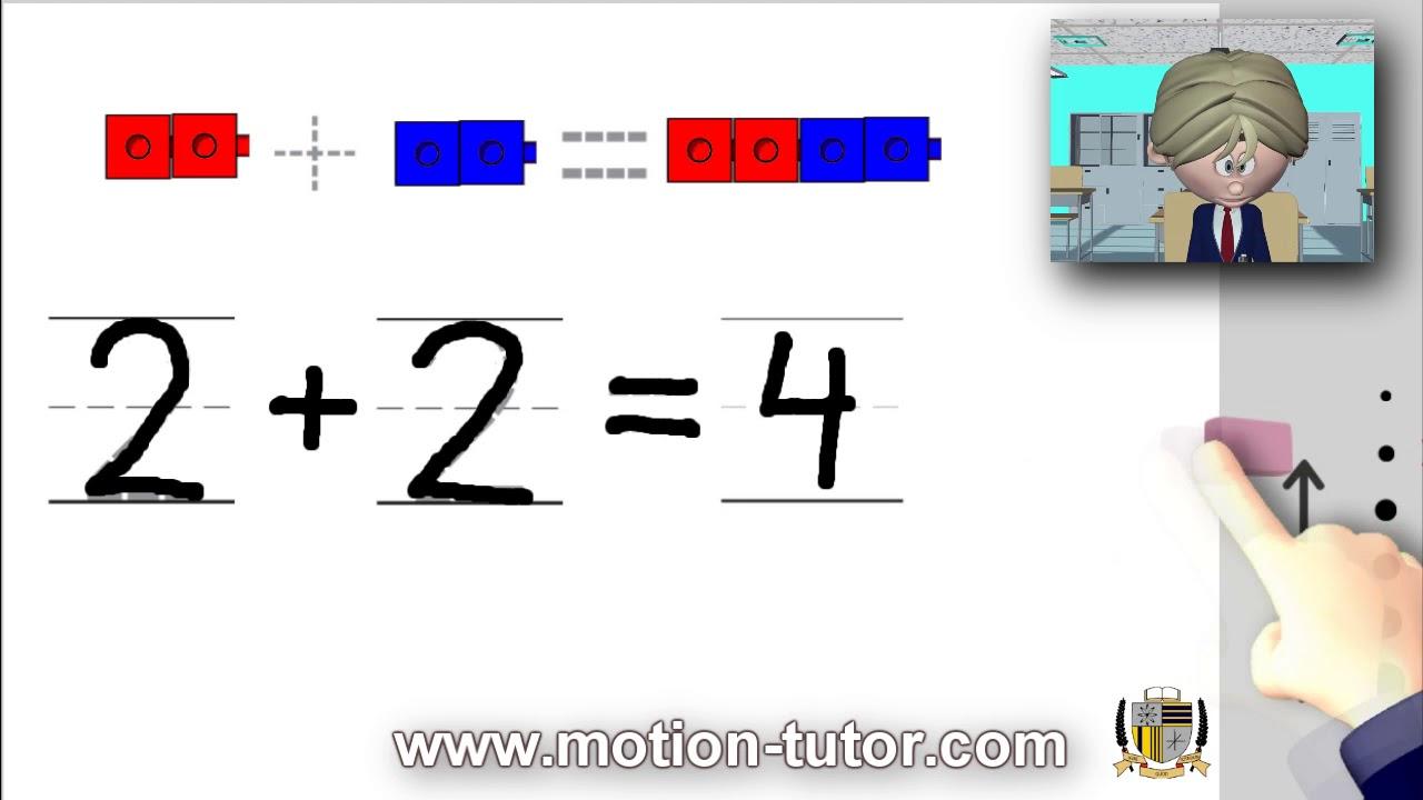 Kindergarten Math Addition With Cube Train
