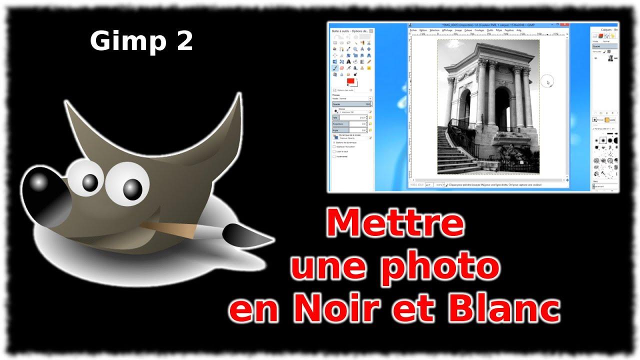 tuto mettre une photo en noir et blanc gimp 2 8 youtube. Black Bedroom Furniture Sets. Home Design Ideas