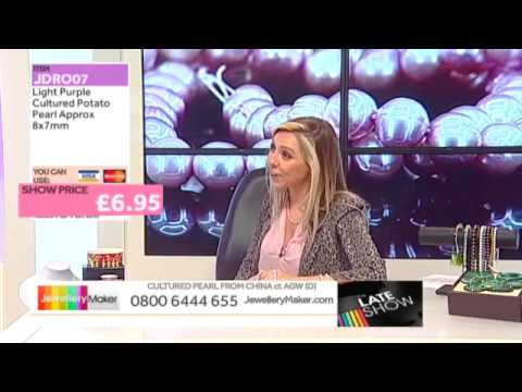 Wire Mesh and Shell Pearl for jewellery making: JewelleryMaker LIVE 30/01/2015