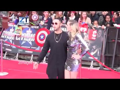 Mason Noise at the film premiere Captain America: Civil War in London, UK