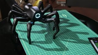 Repeat youtube video Show and Tell: Robugtix T8X Robot Spider!