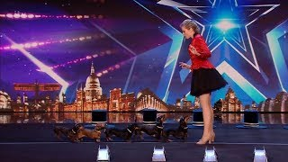 Britain's Got Talent 2020 Diana Vedyashinka's Hot Doggie Show Full Audition S14E01