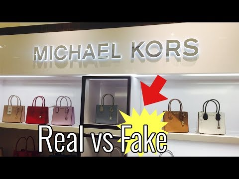 HOW TO SPOT A FAKE MK BAG   BEFORE YOU BUY A MICHAEL KORS HANDGBAG
