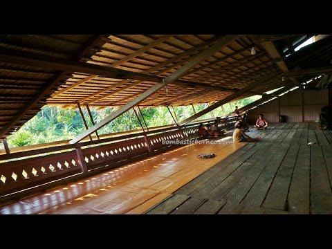 Authentic Indigenous Suku Dayak Punan Longhouse, North Kalimantan Utara Indonesia