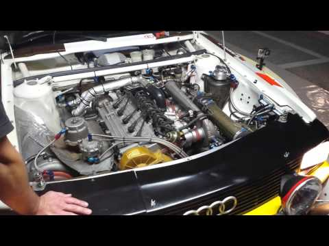 Audi Quattro S1 working engine